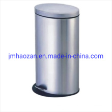 Stainless Steel Oval Waste Bin Petal Dust Bin