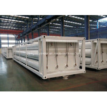 Cylinder Container, 8 Tubes Skid CNG Trailer CNG Tank, CNG Jumbo Cascade