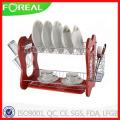 Escorredor de pratos de fio de Metal de 16 polegadas com porta talheres