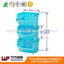 OEM Custom Plastic Basket Mould for Fruit and Vegetable/Plastic Vegetable Basket Mold