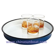 Sunboat Storage Lata / Enamel Pot / Olympia Enamel Serving Tray