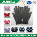 Smartphone screen touch knit glove