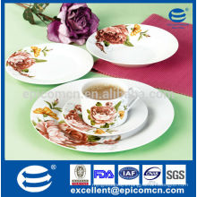 20pcs round Royalty rose porcelain dinner set