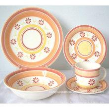 Vaisselle en céramique colorée écologique (ensemble)