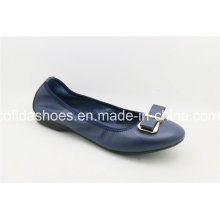 Updated Leather Women Shoes with Charming Bow