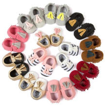 Baby Girls Moda Bowknot & Borlas Soft Sole Loafer Infantil