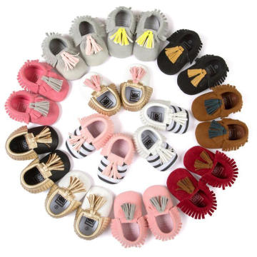 Baby Girls Fashion Bowknot & Tassels Soft Sole Loafer Infant