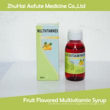 Jarabe de multivitaminas con sabor a frutas