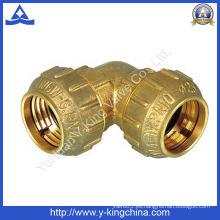 Codo de latón / Tee / Acoplamiento / Tubo de compresión de ajuste (YD-6046)