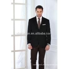 Abrigo de cachemir de los hombres de color negro de estilo clásico de lujo