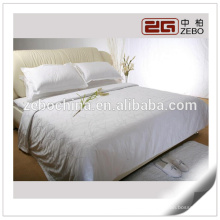 Super King Bed Cotton Jacquard Fabric Luxury Hotel Used White Bed Linen Sets