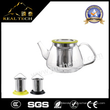 Heat-Resistant Glass Teapot with Stainless Steel Strainer