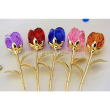 Élégant bleu rose violet décoration cristal rose fleur