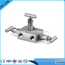 Colector de 3 válvulas forjadas de alta pressão-T