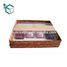 El hexágono llano simple forma la caja de empaquetado cosmética de papel