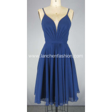 V Neck Chiffon Prom Dress for Ladies