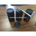 Hochwertige schwarze manuelle Kaffeemühle Aluminiumkaffeemaschine Großhandel keramische Schüssel Kaffeemühle