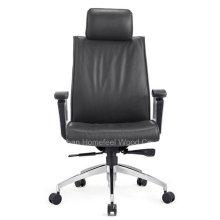 Chaise de bureau pivotante en cuir noir haute direction (HF-CH140A)