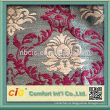 Moda nova mais recente estilo floral chenille sofá tecido