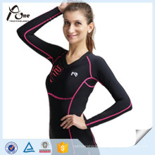 Femmes Chemises Customzied Compression Sport Wear Gros