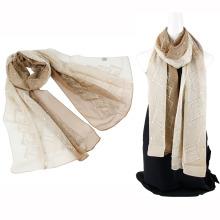 Двухцветный цветной эмблема шелковый шарф оптового фарфора с блестками