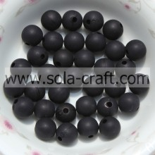 8MM Finishing Wholesale Plastic Black Color Transparent Frosted Beads China Supplier