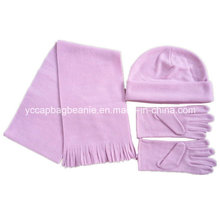 Promotion Polar Fleece Beanie/Glove/Scarf Set