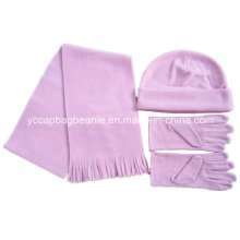 Promoção Polar Fleece Beanie / Luva / Scarf Set