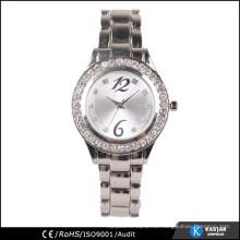 Silberne Quarz-Edelstahl-Back-Uhren japan movt