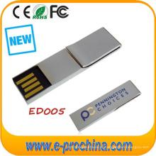 Modelo sólido da movimentação do flash do USB do metal com Boomark / grampo de papel (ED005)
