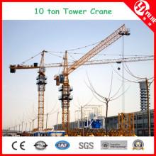 Qtz125 (6015) maximale Last 10 Tonnen stationärer Turmkran zu verkaufen