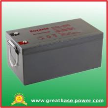 Batterie hybride de batterie de stockage de batterie de gel 250ah 12V