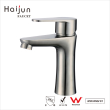 Haijun Best Brand Contemporary Single Hole Stainless Steel 304 Water Basin Faucet