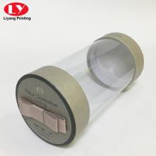 Caja redonda de tubo de plástico PVC con tapa de papel