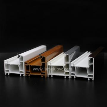 Laminated Wooden Color Pvc Profiles windows doors