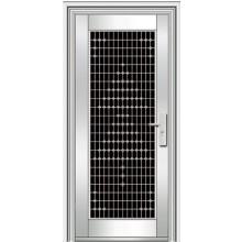 Двустворчатые двери из нержавеющей стали