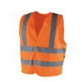 100% Polyester Yellow Zipper Front Safety Vest with Reflective Strips - EN471