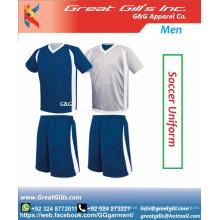 Bester Stoff 100% Polyester Fußball / Fußball Uniform tragen