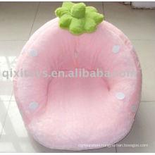 pink plush stuffed strawberry toy sofa