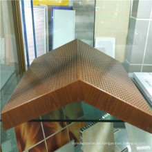 Paneles de panal de aluminio de forma especial con forma de madera