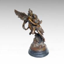 Mitología Estatua ángulo amantes de bronce Escultura Tpy-077A (AP)