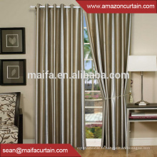 100% polyester Tissu de rideau antidéflagé teinté brillant