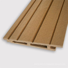 Revêtement extérieur de mur de résine UV en bois en plastique de Canton
