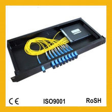 Melhor Preço 1310/1490 / 1550nm 1X8 Fibra Optica Splitter PLC