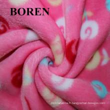 100% coton brossé Tissé à haute densité Flanelle à haute qualité Economise et chaleureuse pour la literie et les vêtements