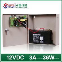 Alimentation d'énergie de contrôle d'accès avec la sauvegarde (12V3A)