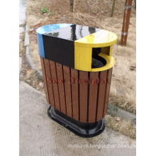 Eco-Friendly Wood Plastic Composite Dustbin with CE, Fsc, SGS, Certificate