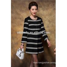 elegant fashionable wholesale OEM service women coats overcoat for autumn 2016