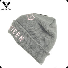 High Quality Knit Custom Design Cute Beanie with Embroidery