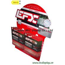 20PC / CTN-Pappanzeige, gewölbte Anzeige, Papierausstellungsstand, Pappboden-Anzeige, Haken-Positions-Anzeige, Pegboard-Anzeige (B & C-E002)